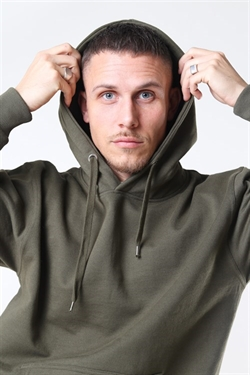 Basic Brand Hoodie New Army