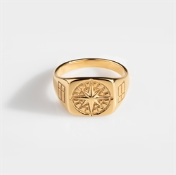 Northern Legacy Compass Ring Gold