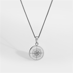 Northern Legacy Compass Pendant Sil