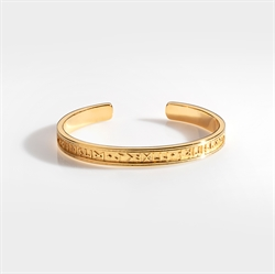 Northern Legacy Runic Bangle Gold