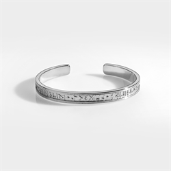 Northern Legacy Runic Bangle Silver
