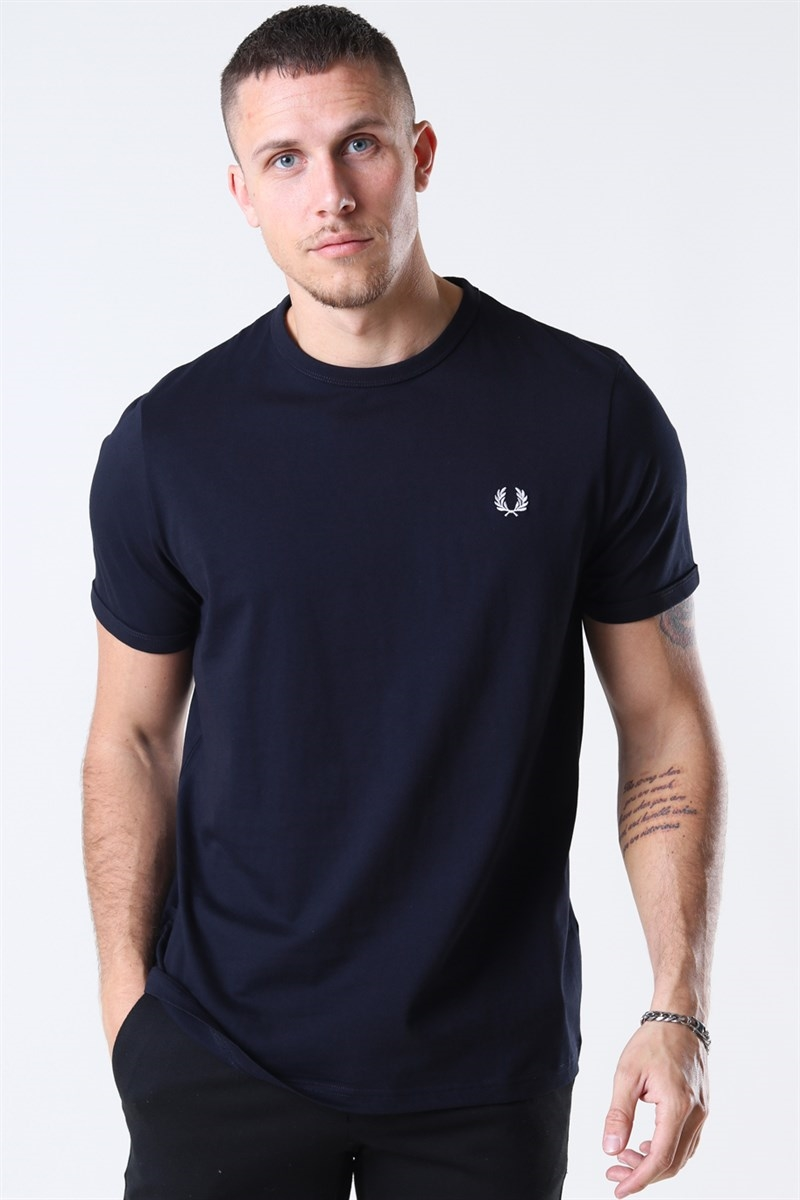 Fred Perry Ringer Tee Navy