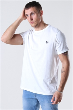 Fred Perry Ringer Tee White