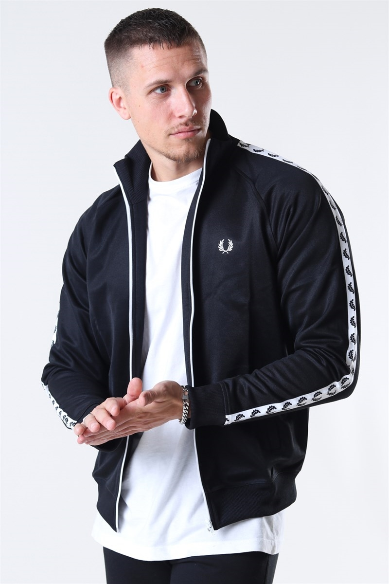 Fred Perry Taped Track Jacket Black