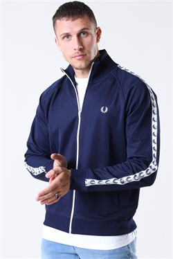 Fred Perry Taped Track Jacket Blue
