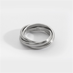 NL Helix Band Ring Silver
