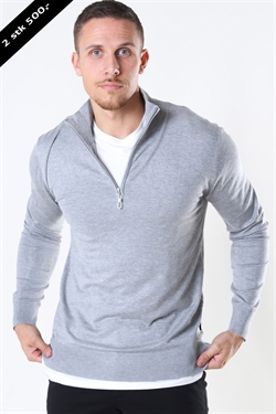 Jeff Argento Half Zip Lt. Grey