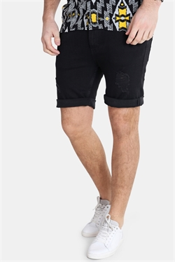 Just Junkies Mike Shorts Tape Black