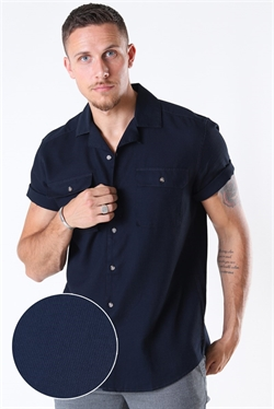 Only & Sons Andrew Waffle SS Navy