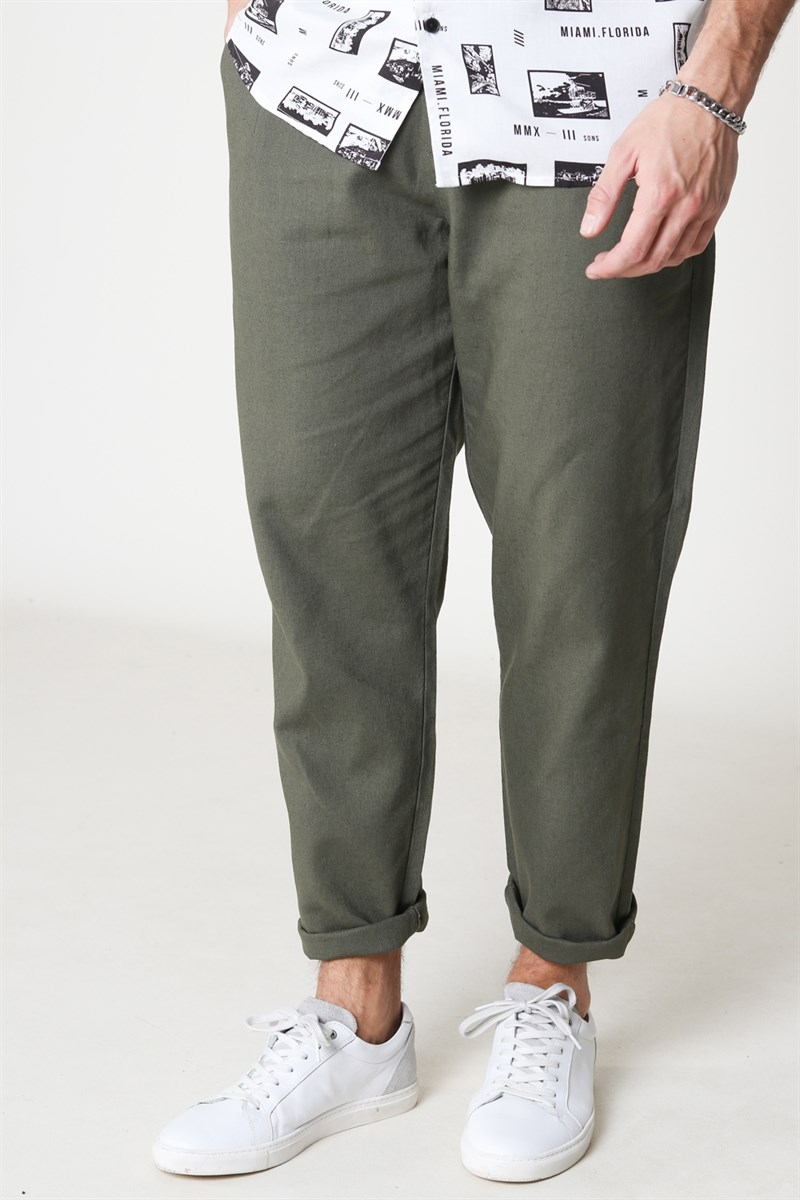 Only & Sons Leo Linen Mix Olive