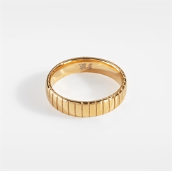 NL Siempre Cut Band Ring Gold