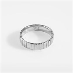 NL Siempre Cut Band Ring Silver